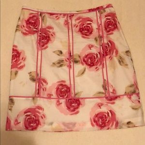 Ann Taylor Loft rose skirt